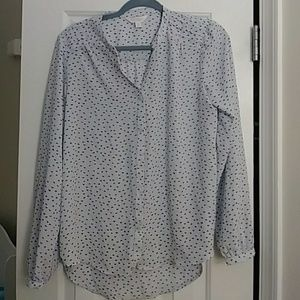 Lauren Conrad Light Blue Blouse